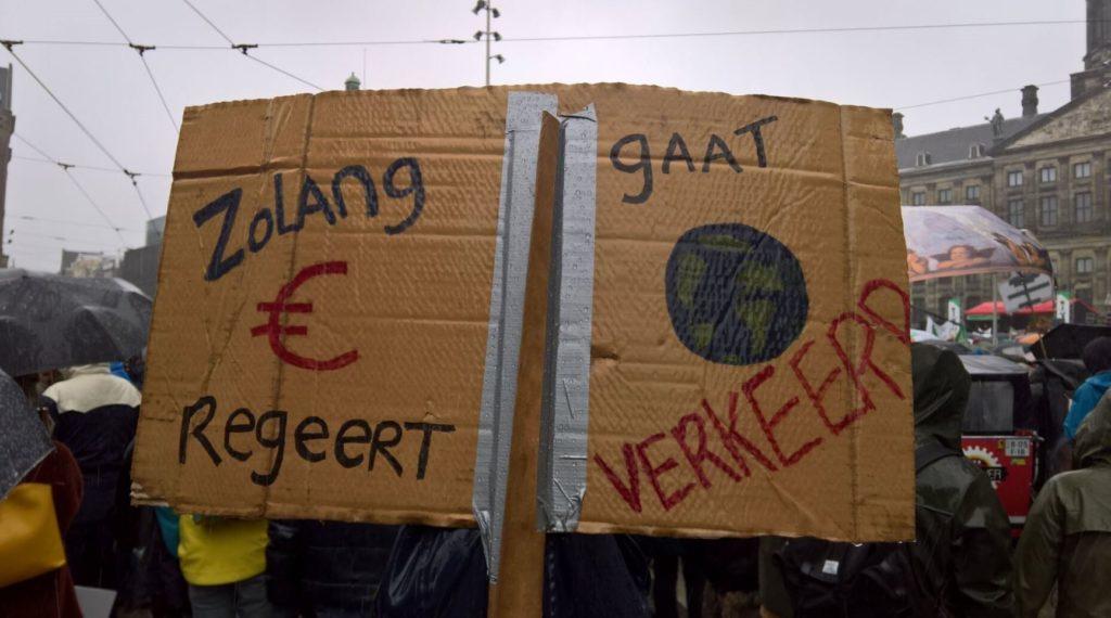 Zolang geld regeert, gaat klimaat verkeerd