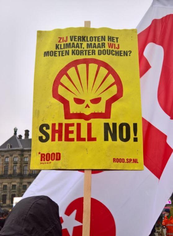 Boosheid tegen Shell